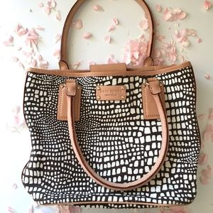 Kate Spade Canvas and Leather Printed Bag